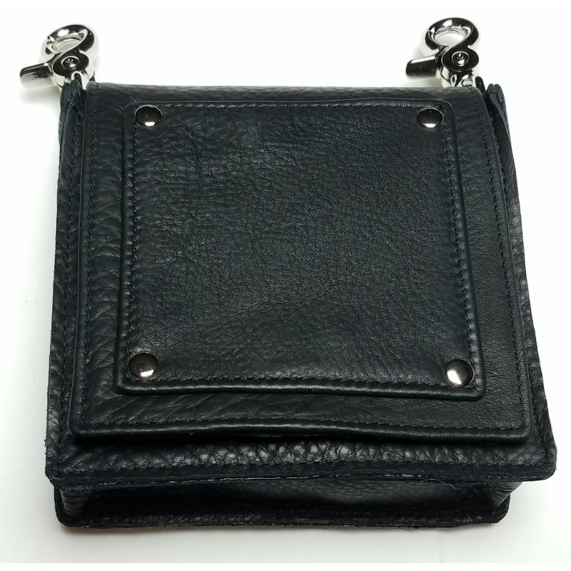 Doubleton Leather Bag, shown in black.